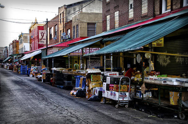South Print featuring the photograph South Philly Italian Market by Bill Cannon