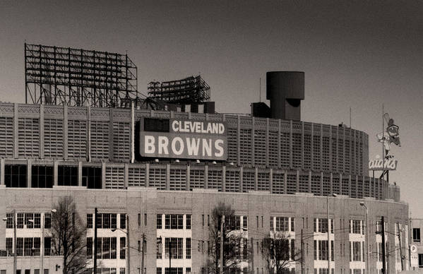 Cleveland Print featuring the photograph The Hometeams by Kenneth Krolikowski