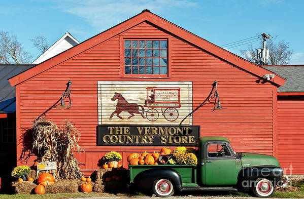 Americana Print featuring the photograph Vermont Country Store by John Greim