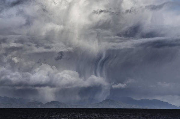 Cloud Print featuring the digital art Wall Of Weather by Darryl Luscombe