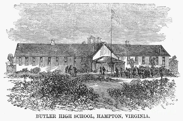 1868 Print featuring the photograph Freedmens School, 1868 by Granger