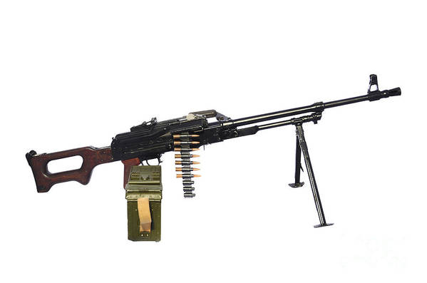 Single Object Print featuring the photograph Russian Pkm General-purpose Machine Gun by Andrew Chittock