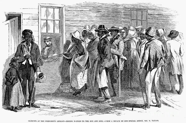1866 Print featuring the photograph Freedmens Bureau, 1866 by Granger