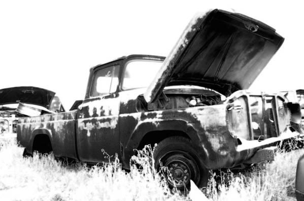 Truck Print featuring the photograph Junkyard Pickup by Matthew Angelo