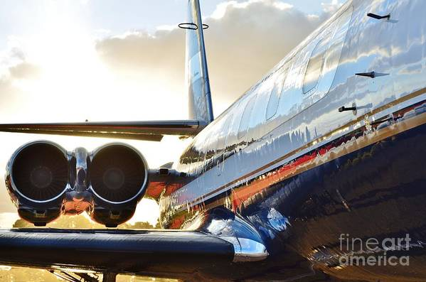 Lockheed Print featuring the photograph Lockheed Jet Star Side View by Lynda Dawson-Youngclaus