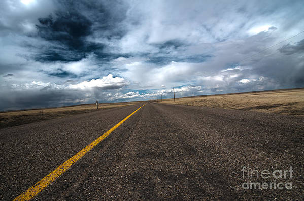 Scenic Drive Print featuring the photograph Open Highway by Arjuna Kodisinghe