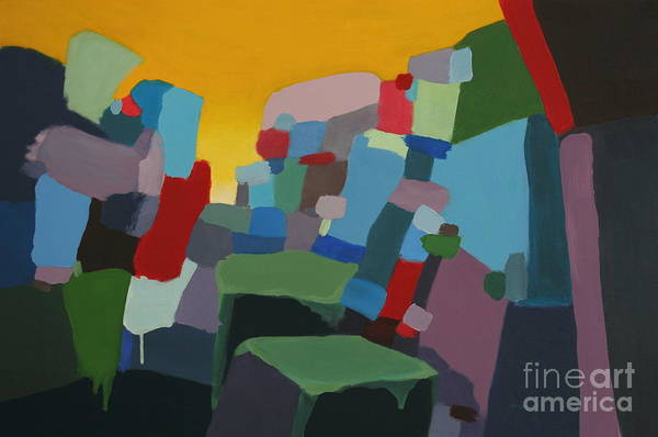 Art Print featuring the painting Space And Time by Dan Lockaby