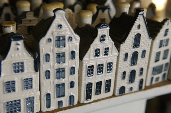 Cityscape Print featuring the photograph The Netherlands, Amsterdam, Model Houses by Keenpress