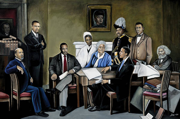 President Barack Obama Print featuring the painting One Day by Stacy V McClain