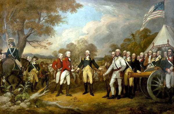 Revolutionary War Print featuring the painting The Surrender Of General Burgoyne by War Is Hell Store