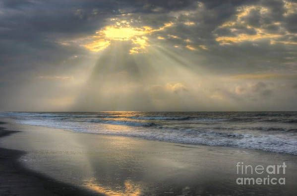 Sunrise Print featuring the photograph Carpe Diem by Jeff Breiman