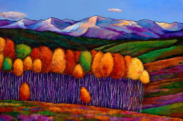 Aspen Trees Print featuring the painting Elysian by Johnathan Harris