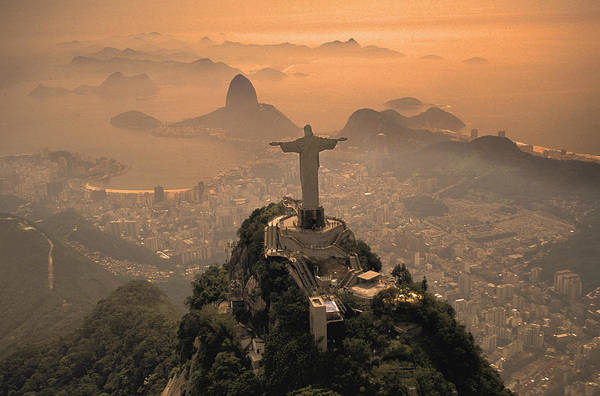 Jesus Print featuring the photograph Jesus In Rio by Christian Heeb