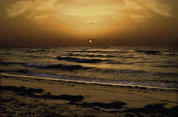 Miami Print featuring the photograph Miami Sunrise by Gary Dean Mercer Clark