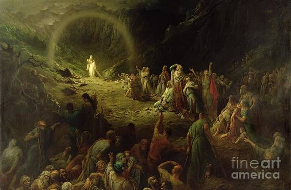 Dore Print featuring the painting The Valley Of Tears by Gustave Dore