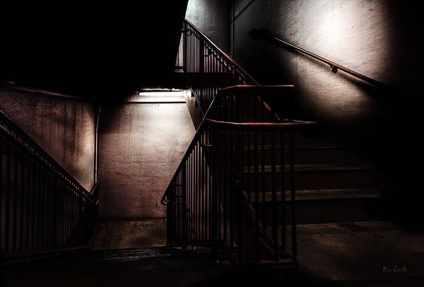 Stair Print featuring the photograph Between Here And There by Bob Orsillo