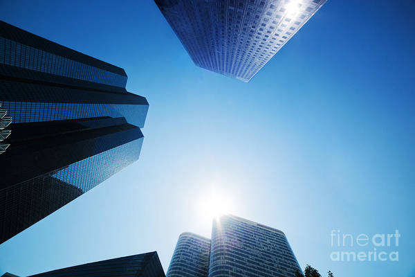Skyscraper Print featuring the photograph Business Skyscrapers by Michal Bednarek