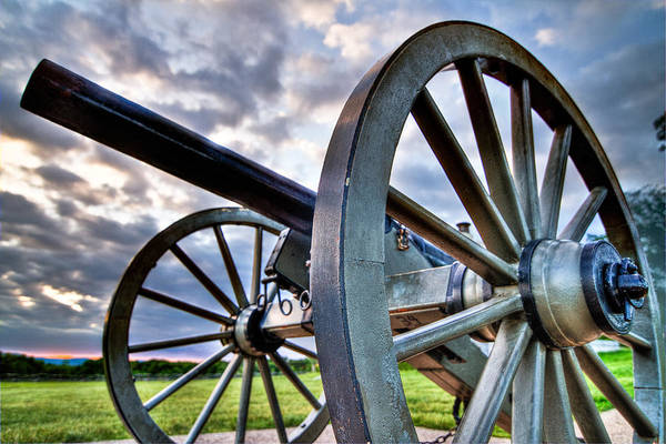 Abraham Print featuring the photograph Cannon Over Gettysburg by Andres Leon