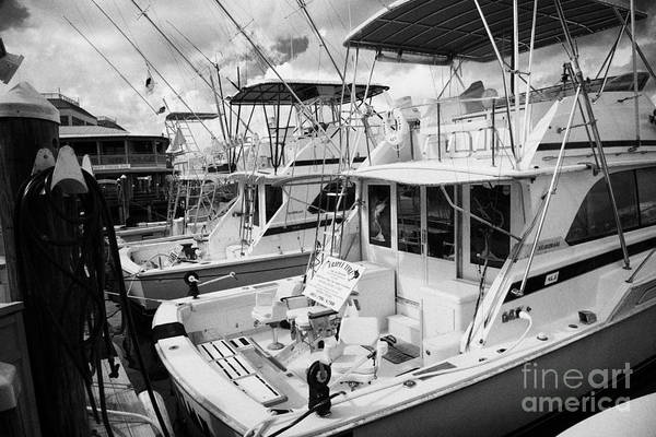 Charter Print featuring the photograph Charter Fishing Boats In The Old Seaport Of Key West Florida Usa by Joe Fox