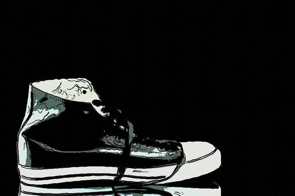 Seam Print featuring the photograph Converse Sports Shoes by Toppart Sweden