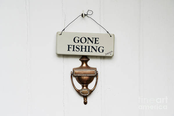 Gone Fishing Forever Print featuring the photograph Gone Fishing Forever by Tim Gainey