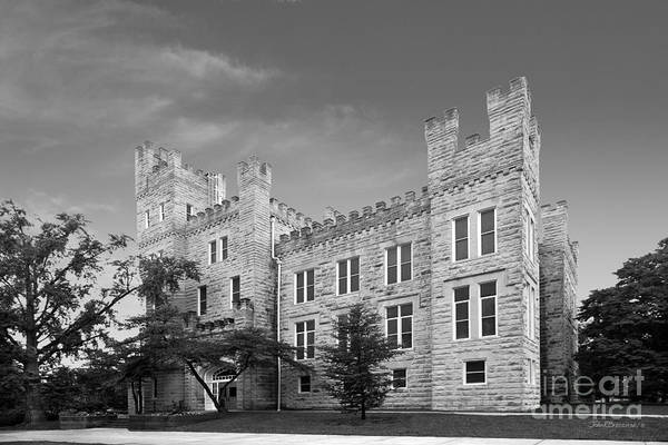 Altgeld Print featuring the photograph Illinois State University Cook Hall by University Icons
