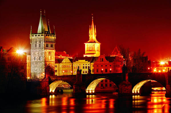 Prague Print featuring the photograph Karluv Most by John Galbo