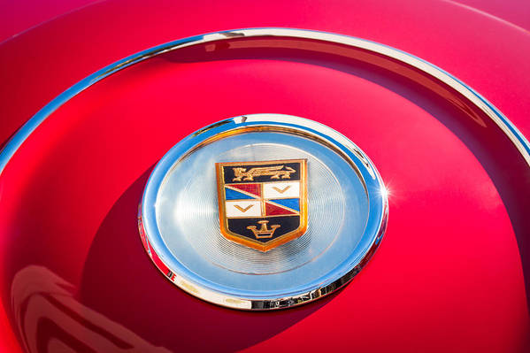 1960 Chrysler Imperial Crown Convertible Emblem Print featuring the photograph 1960 Chrysler Imperial Crown Convertible Emblem by Jill Reger