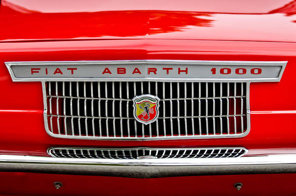 1967 Fiat Abarth 1000 Otr Print featuring the photograph 1967 Fiat Abarth 1000 Otr Grille by Jill Reger