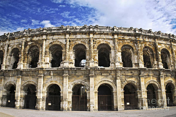 Nimes Print featuring the photograph Roman Arena In Nimes France by Elena Elisseeva