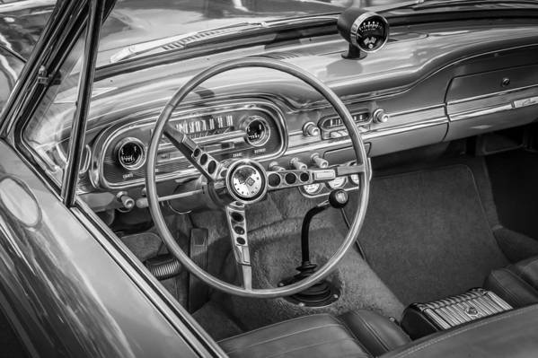 1963 Ford Falcon Sprint Print featuring the photograph 1963 Ford Falcon Sprint Convertible Bw by Rich Franco