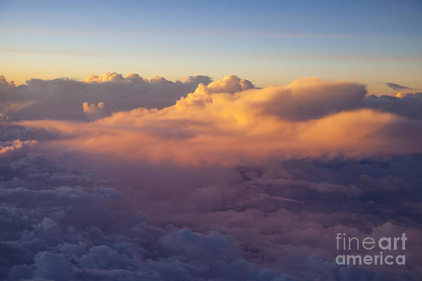 Above Print featuring the photograph Colorful Clouds by Brian Jannsen