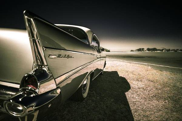 Chevrolet Bel Air Print featuring the photograph 57 Chevrolet Bel Air by motography aka Phil Clark