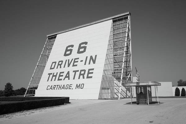66 Print featuring the photograph Route 66 - Drive-in Theatre by Frank Romeo