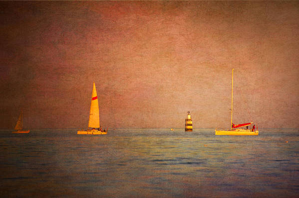 Loriental Print featuring the photograph A Perfect Summer Evening by Loriental Photography