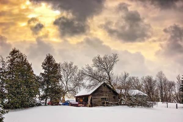 Winter Print featuring the photograph A Winter Sky by Steve Harrington