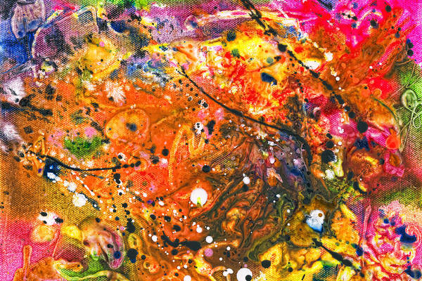 Abstract Print featuring the photograph Abstract - Crayon - The Excitement by Mike Savad