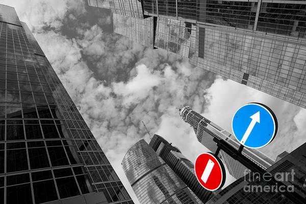 Skyscraper Print featuring the photograph Aim High by Maurizio Bacciarini