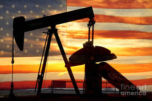 Oil Print featuring the photograph American Oil by James BO Insogna
