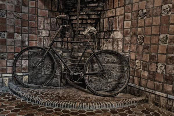 Byzantine Print featuring the photograph Antique Bicycle by Susan Candelario