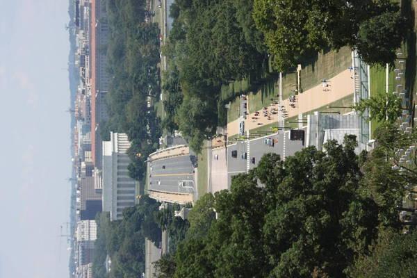 Arlington Print featuring the photograph Arlington National Cemetery - View From Arlington House - 12125 by DC Photographer