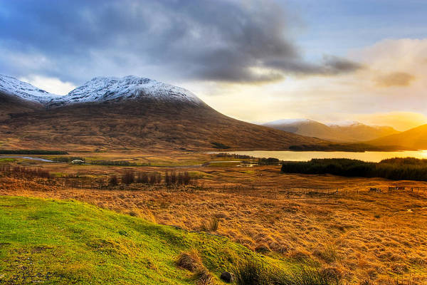 Scottish Highlands Print featuring the photograph Astonishing Beauty Of Loch Tulla by Mark E Tisdale