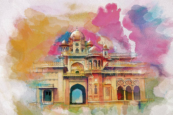 Pakistan Print featuring the painting Atchison College by Catf