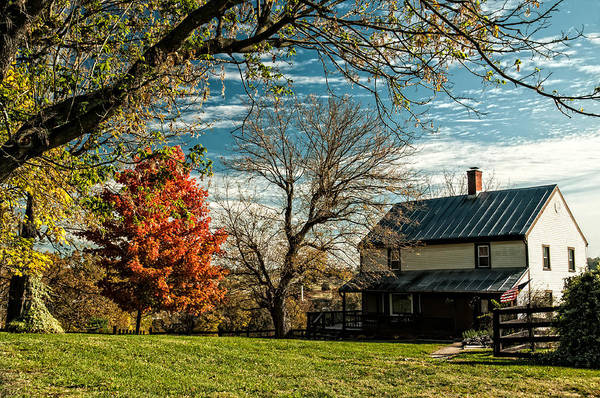Autumn In The Shenandoah Valley Print featuring the photograph Autumn Farm House by Lara Ellis