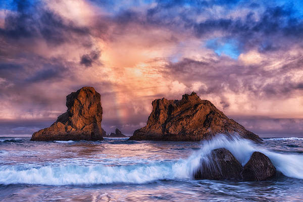 Storm Print featuring the photograph Bandon Beauty by Darren White