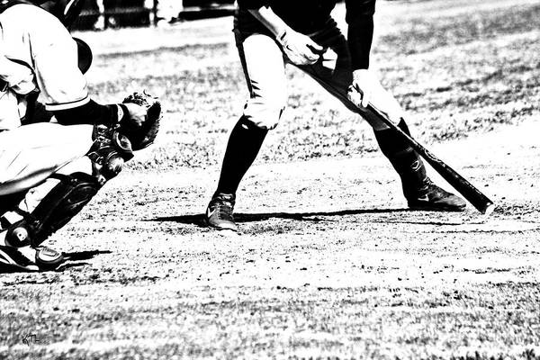 Baseball Print featuring the photograph Batter Up by Karol Livote
