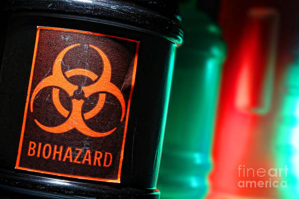 Biohazard Print featuring the photograph Biohazard by Olivier Le Queinec