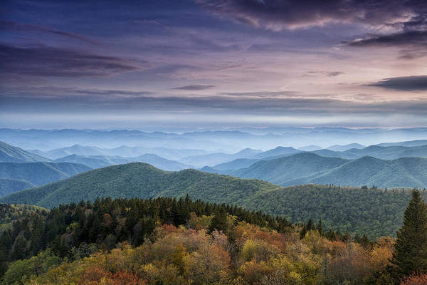 Blue Ridge Print featuring the photograph Blue Ridge Mountains Dreams by Andrew Soundarajan