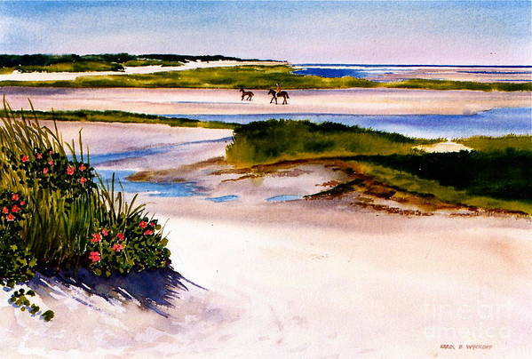 Beach Print featuring the painting Brewster Ebb Tide by Karol Wyckoff