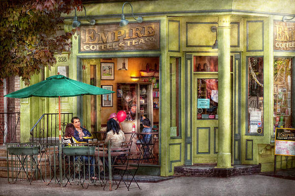 Hoboken Print featuring the photograph Cafe - Hoboken Nj - Empire Coffee And Tea by Mike Savad